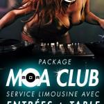 Réservation Limousine au MOA Club avec table et bouteille