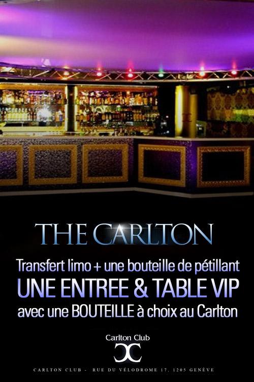 Carlton club genève en limousine