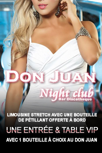 Package don Juan Night CLub Genève