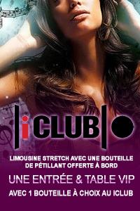 Résevation Table + entrée Vip au iClub à Genève