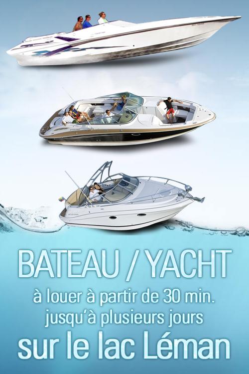 location bateau ou yacht sur le lac léman