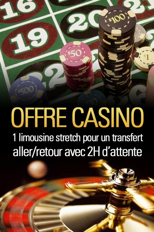 Transfert au Casino en Limousine