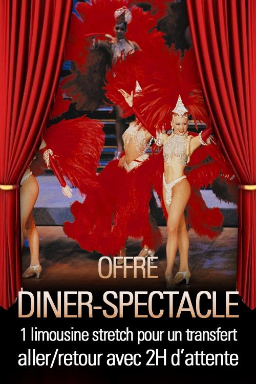 Transfert au Diner-Spectacle en limousine