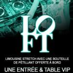 Table + entrée pour le Loft Club de Lausanne