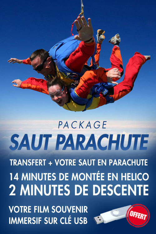 Saut en parachute à 5000m d'altitude en hélicoptère